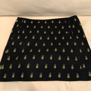 JCrew Pineapple Mini Skirt